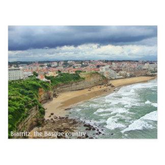 La ciudad de Biarritz - una visión panorámica Tarjetas Postales