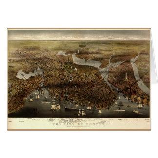La ciudad de Boston 1873 Felicitacion