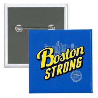 La ciudad de Boston fuerte recuerda la decoración Pin Cuadrado