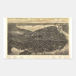 La ciudad de Boston Massachusetts (1879) Pegatina Rectangular
