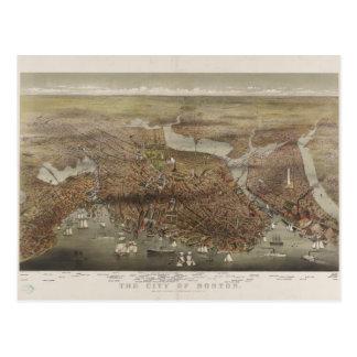 La ciudad de Boston Massachusetts en 1873 Tarjeta Postal