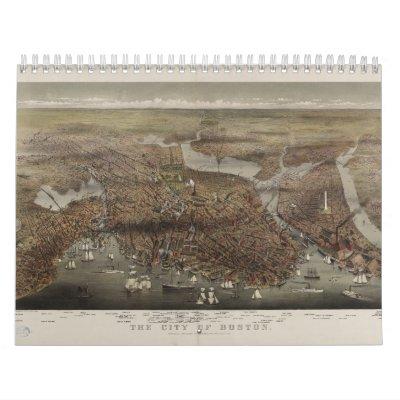 La ciudad de Boston por los párrocos y Atwater 187 Calendario