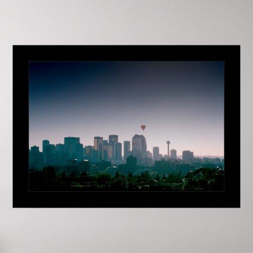 La ciudad de Calgary con los globos Impresiones