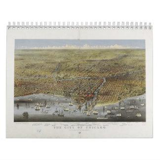 La ciudad de Chicago Illinois a partir de 1874 Calendario De Pared