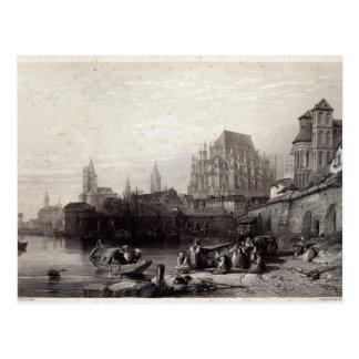 La ciudad de Colonia grabada por M J Sterling Postal