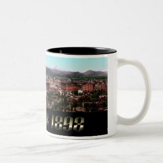 La ciudad de Denver 1898 Taza De Café De Dos Colores