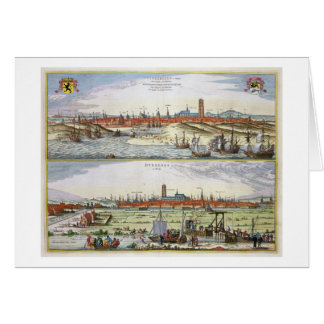 La ciudad de Dunkerque durante el empleo español, Tarjeta De Felicitación