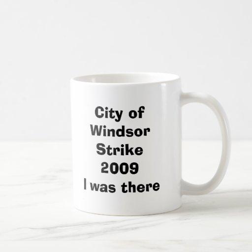 La ciudad de la huelga 2009I de Windsor estaba all Tazas De Café