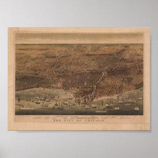 La ciudad de la reproducción 1892 de Chicago Póster