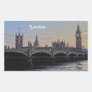 La ciudad de Londres Inglaterra Pegatina Rectangular
