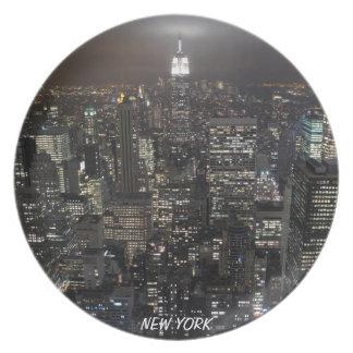 La ciudad de los recuerdos de la placa NY de Nueva Plato
