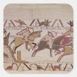 La ciudad de los soldados de Rennes y de duque Pegatina Cuadrada