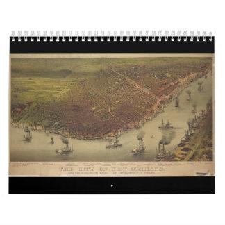 La ciudad de New Orleans Luisiana a partir de 1885 Calendarios