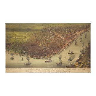 La ciudad de New Orleans Luisiana a partir de 1885 Lienzo Envuelto Para Galerías