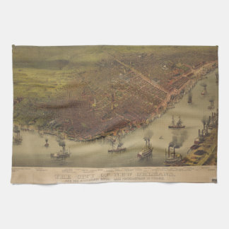 La ciudad de New Orleans Luisiana a partir de 1885 Toallas De Cocina