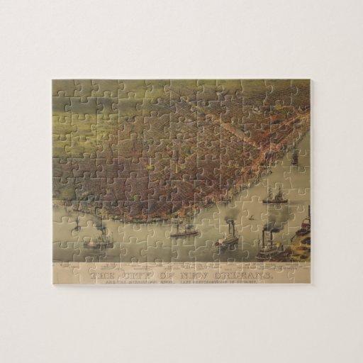 La ciudad de New Orleans Luisiana a partir de 1885 Puzzles Con Fotos