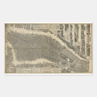 La ciudad de Nueva York cerca Taylor (1879) Rectangular Altavoces