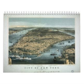 La ciudad de Nueva York en 1856 por los párrocos d Calendarios