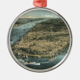 La ciudad de Nueva York en 1856 por los párrocos d Adornos De Navidad