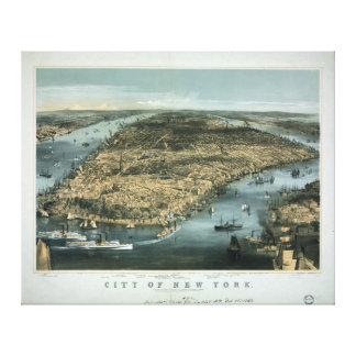 La ciudad de Nueva York en 1856 por los párrocos d Lienzo Envuelto Para Galerías