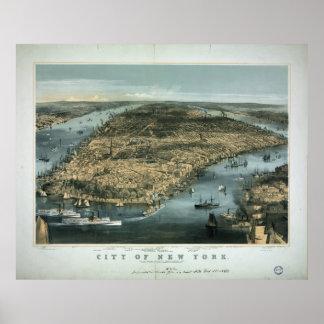 La ciudad de Nueva York en 1856 por los párrocos d Posters