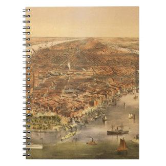 La ciudad de Nueva York, pub. por curtidor e Ives, Libro De Apuntes