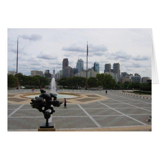 La ciudad de Philadelphia, del paso del museo de a Felicitacion