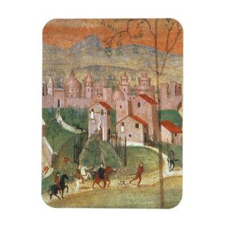 La ciudad de Prato fresco Imanes De Vinilo