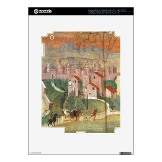 La ciudad de Prato (fresco) iPad 3 Pegatina Skin