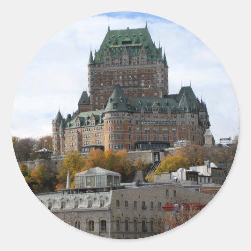 La ciudad de Quebec Etiqueta Redonda