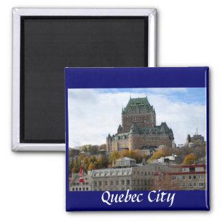 La ciudad de Quebec Imán Cuadrado