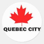 La ciudad de Quebec Pegatina Redonda