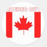 La ciudad de Quebec Pegatinas Redondas