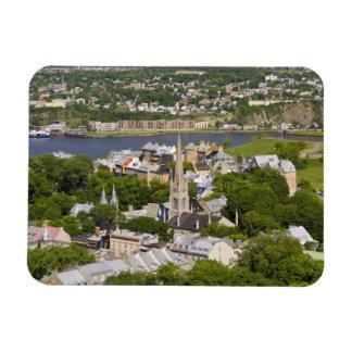 La ciudad de Quebec, Quebec, Canadá. Mirada abajo  Imanes Rectangulares