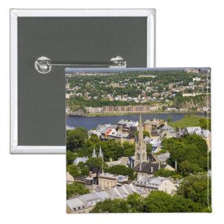La ciudad de Quebec, Quebec, Canadá. Mirada abajo  Pins