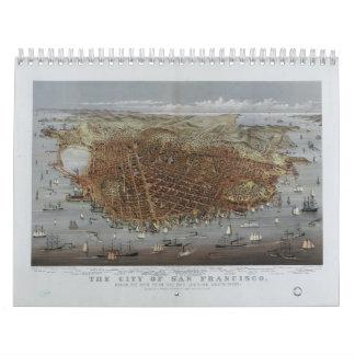 La ciudad de San Francisco California a partir de Calendario De Pared