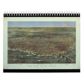La ciudad de St. Louis Missouri a partir de 1874 Calendario De Pared