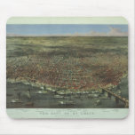 La ciudad de St. Louis Missouri a partir de 1874 Tapetes De Ratón