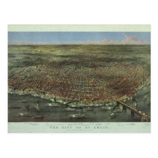 La ciudad de St. Louis Missouri a partir de 1874 Tarjeta Postal