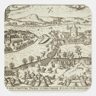 La ciudad de Tokay se recuperó de los turcos de S. Pegatina Cuadrada