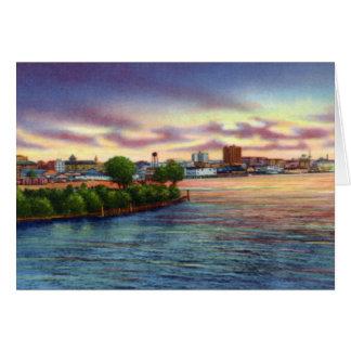 La ciudad de Wilmington Carolina del Norte del mie Tarjeta De Felicitación