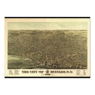 """La ciudad del búfalo Nueva York (1880) Invitación 5"""" X 7"""""""