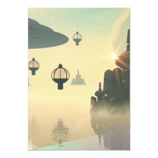 """La ciudad del futuro invitación 5"""" x 7"""""""