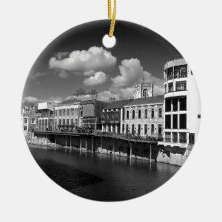 La ciudad del río Ouse de York compite riverscape Adorno Para Reyes