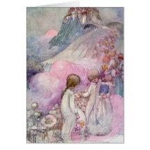La ciudad del sueño - el ejemplo de los niños tarjeta de felicitación