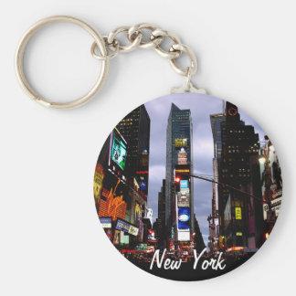 La ciudad del Times Square del llavero de Nueva