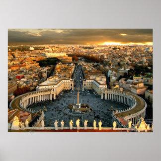 La Ciudad del Vaticano cuadrada de San Pedro Impresiones
