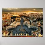 La Ciudad del Vaticano cuadrada de San Pedro Póster