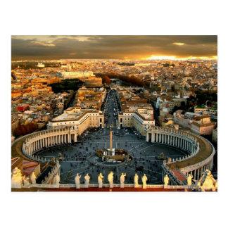 La Ciudad del Vaticano cuadrada de San Pedro Tarjetas Postales