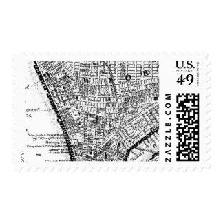 La ciudad enciende B de Ceci Nueva York Timbre Postal